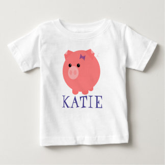 Customizable Cute Chubby Pig Kid T-Shirt