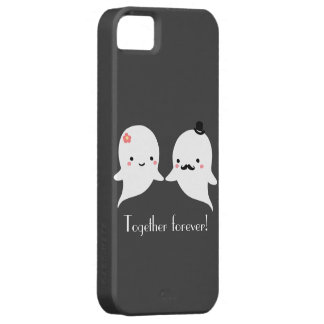 Customizable Cute Ghost Couple Barely There iPhone 5 Case