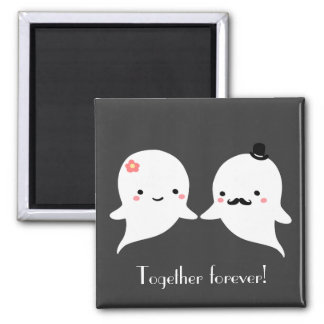 Customizable Cute Ghost Couple Fridge Magnets