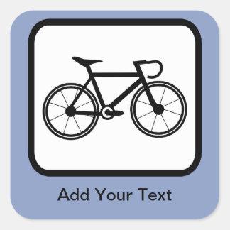 Customizable Cyclist Logo Square Sticker