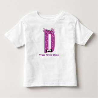 Customizable D Letter T-Shirt