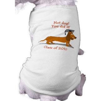 Customizable Dachshund Dog Graduation Template Sleeveless Dog Shirt