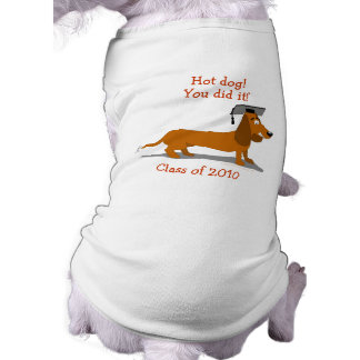 Customizable Dachshund Dog Graduation Template Sleeveless Dog Shirt
