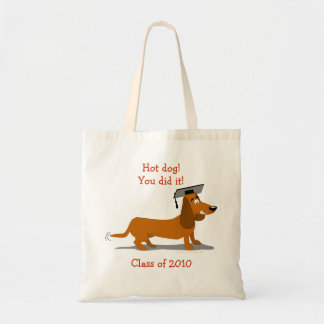 Customizable Dachshund Dog Graduation Template Tote Bag