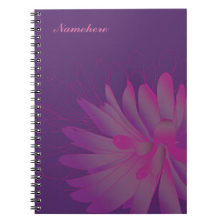 Customizable: Dahlia Spiral Note Book