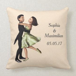 Customizable Dancing Couple Graphic Throw Pillow