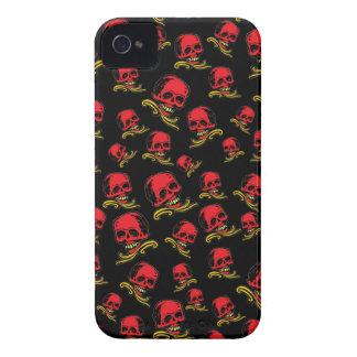 Customizable Decorative Skulls iPhone 4 Cases