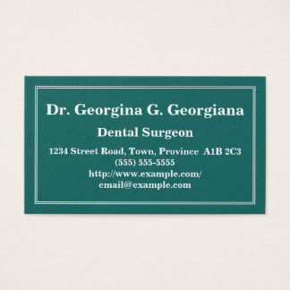 Customizable Dental Surgeon Business Card