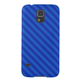 Customizable Diagonal dark cobalt blue Stripes Cases For Galaxy S5