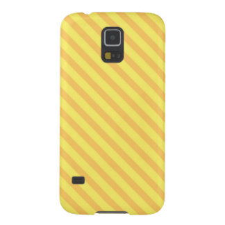Customizable Diagonal yellow orange Stripes Galaxy S5 Cover