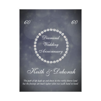 Customizable Diamond Wedding Anniversary Canvas Print
