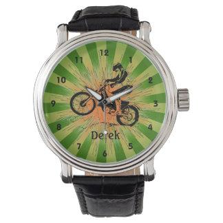 Customizable Dirt Biking Design Watch