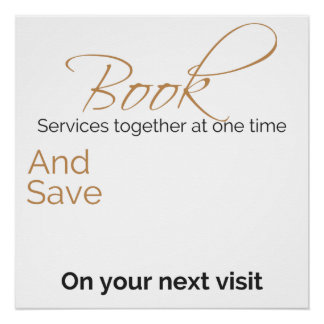 Customizable discount for multiple services poster