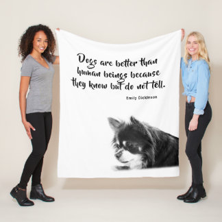 Customizable Dog & Emily Dickinson's Quote Fleece Blanket