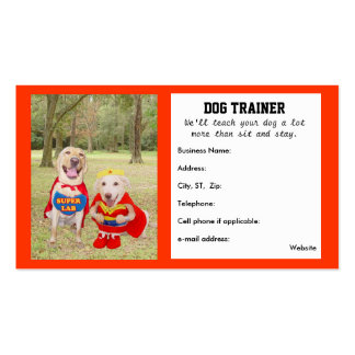 Customizable Dog Trainer s Business Card