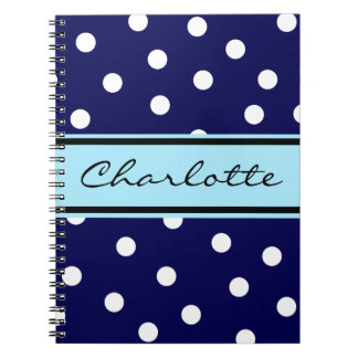 Customizable Dots Monogram Notebook