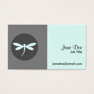Customizable Dragonfly Color with Gray BG Design Business Card