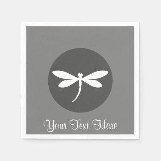 Customizable Dragonfly Napkins Paper Serviettes