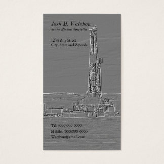 Customizable Drilling Rig Business Card