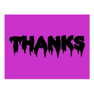Customizable Drip Font THANKS Postcard