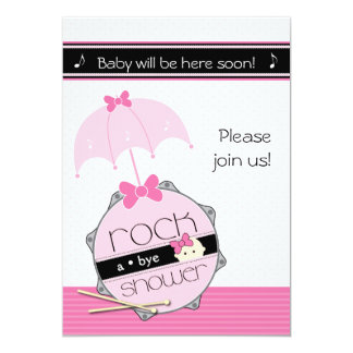 Customizable Drummer BabyShower invitation