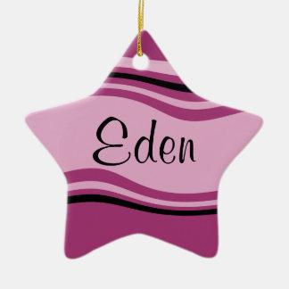 Customizable Eden Ceramic Star Decoration
