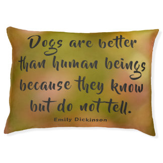 Customizable Emily Dickinson's Quote Pet Bed