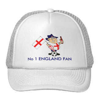 Customizable England Soccer Fan Mesh Hat