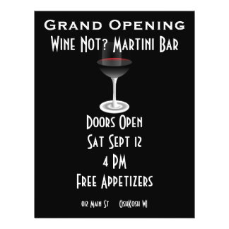 Customizable Event for Grand Opening 21.5 Cm X 28 Cm Flyer
