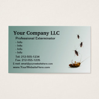 CUSTOMIZABLE Exterminator Business Card