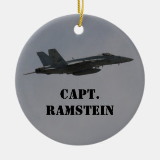 Customizable F18 Hornet Fighter Jet In Flight Ceramic Ornament