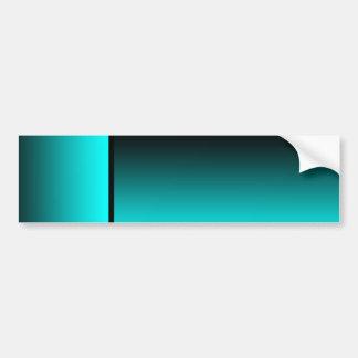 Customizable Fade: Cyan Bumper Sticker