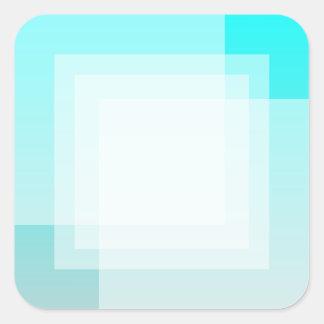 Customizable Fade: Cyan Stickers