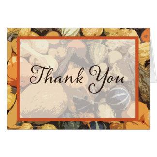 Customizable Fall Gourd Thank You Card