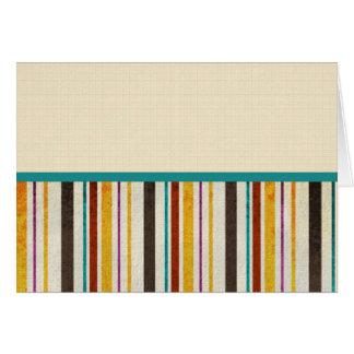 Customizable Fall Stripe Card