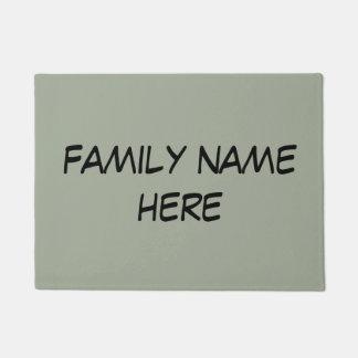 customizable family name door mat