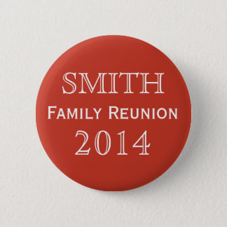 Customizable Family Reunion Red 6 Cm Round Badge