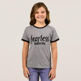 Customizable Fearless Ballerina Ringer T-Shirt