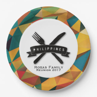Customizable Fiesta in Philippines Paper Plate