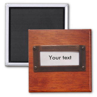 Customizable file cabinet label magnet