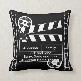 Customizable Film Clapper for Home Theater Cushion