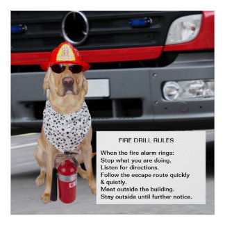 Customizable Fire Drill Poster