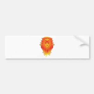 Customizable Fire Leo Zodiac Lion Bumper Sticker