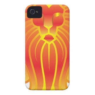 Customizable Fire Leo Zodiac Lion iPhone 4 Case-Mate Case