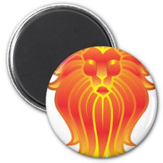 Customizable Fire Leo Zodiac Lion Magnet