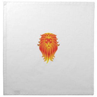 Customizable Fire Leo Zodiac Lion Napkin