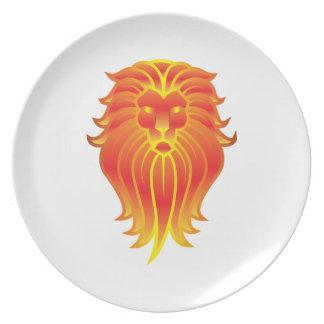 Customizable Fire Leo Zodiac Lion Plate