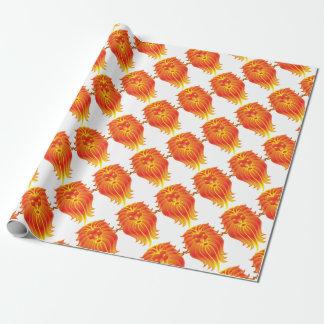 Customizable Fire Leo Zodiac Lion Wrapping Paper