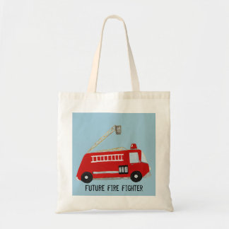 Customizable fire truck budget tote bag