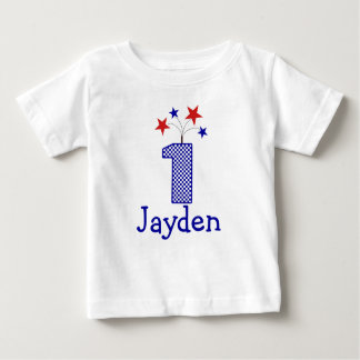 Customizable Firecracker First birthday shirt 1 yr